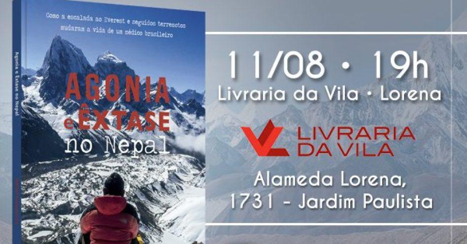 O Nepal é aqui, amanhã na Livraria da Vila-Lorena