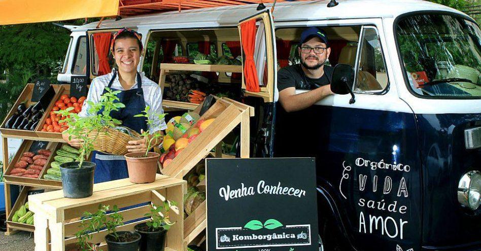 No estilo food truck, Komborgânica leva alimentos saudáveis até a casa