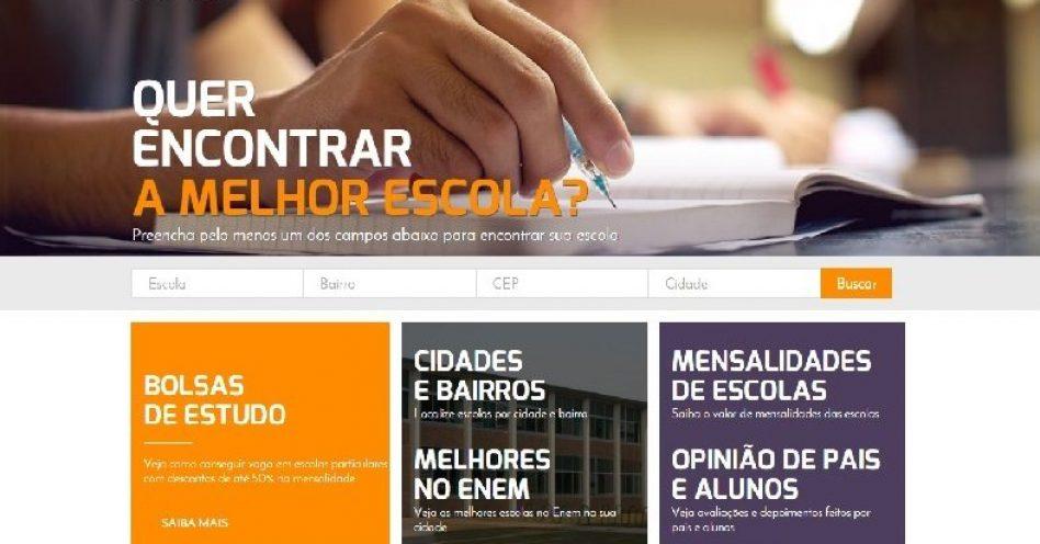 Site oferece ranking de escolas