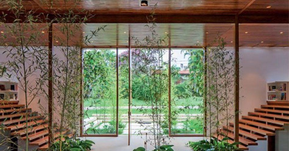 Jardim de inverno leva natureza para dentro do lar