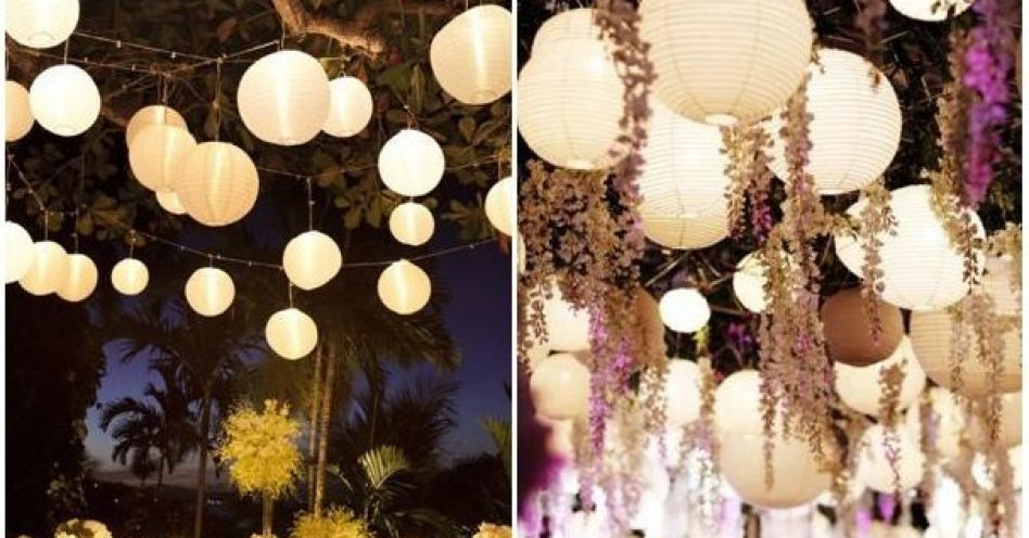 Lanternas conferem visual moderno a diferentes tipos de festas