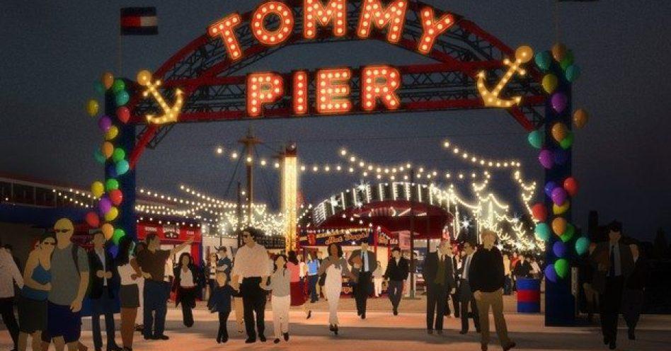 Tommy Hilfiger inova com desfile em parque de diversões