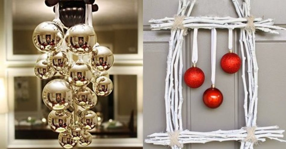 Formas diferenciadas de empregar as bolinhas trazem frescor à decoração natalina