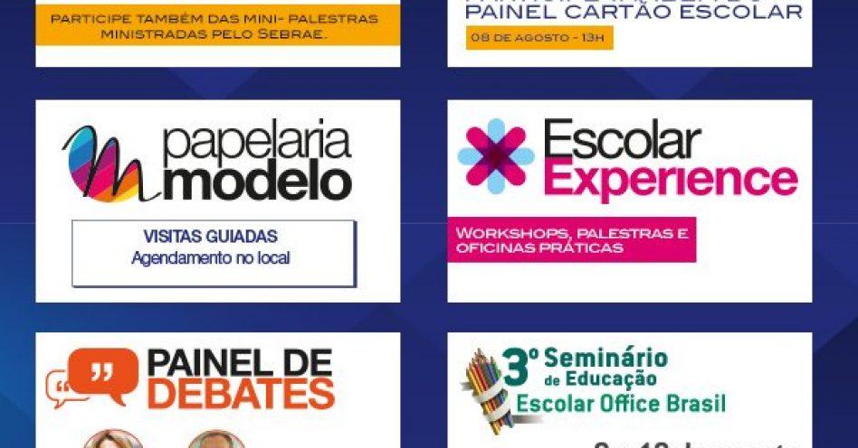 Escolar Office Brasil começou domingo como a principal plataforma de negócios do setor de papelarias