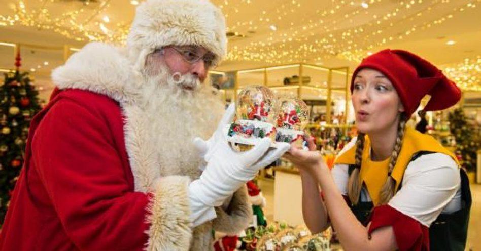 Loja de departamento do Reino Unido  abre ala especial para o Natal