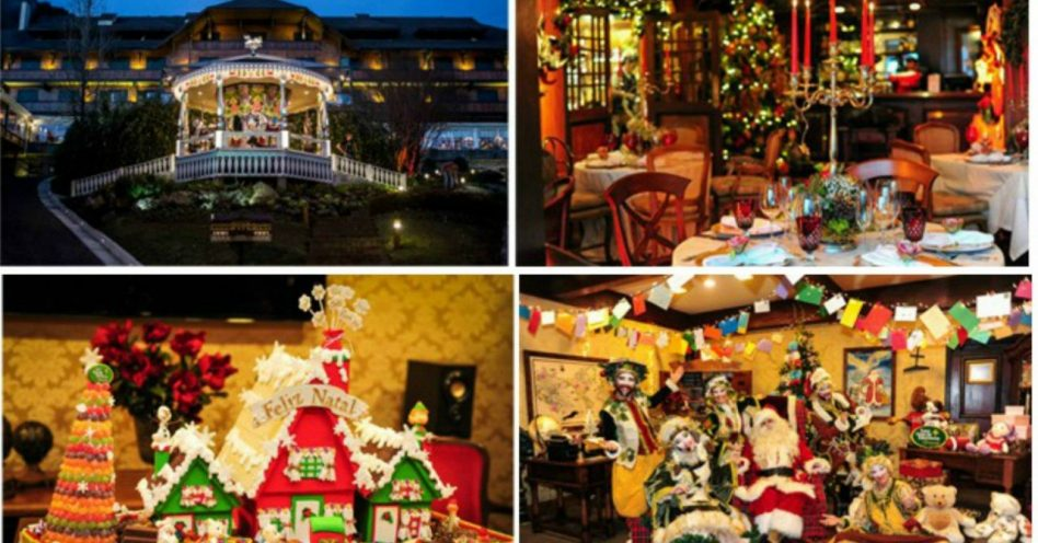 Point para selfies, hotel de Gramado parece casa do Papai Noel