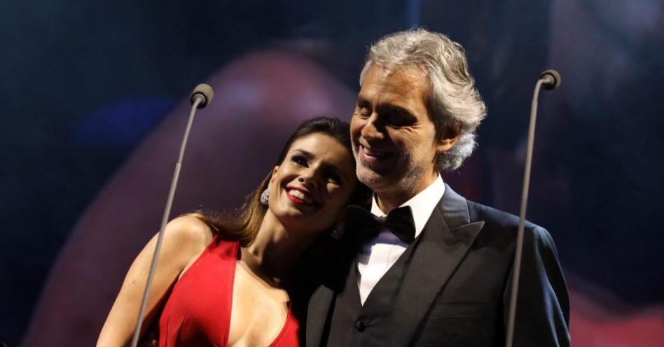 Paula Fernandes se apresentou ontem com Andrea Bocelli no Allianz Parque