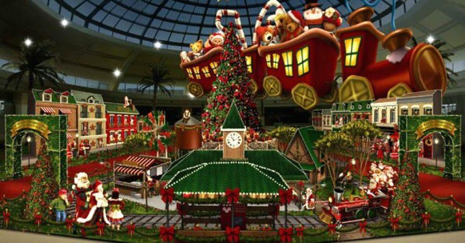 Tecnologia é forte aliada da decoração natalina nos shoppings