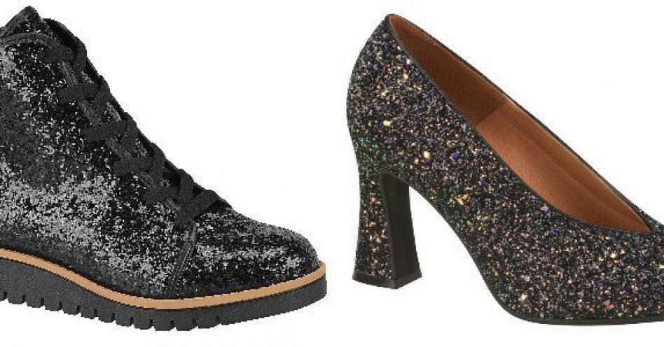 Como estilizar o calçado com glitter no inverno