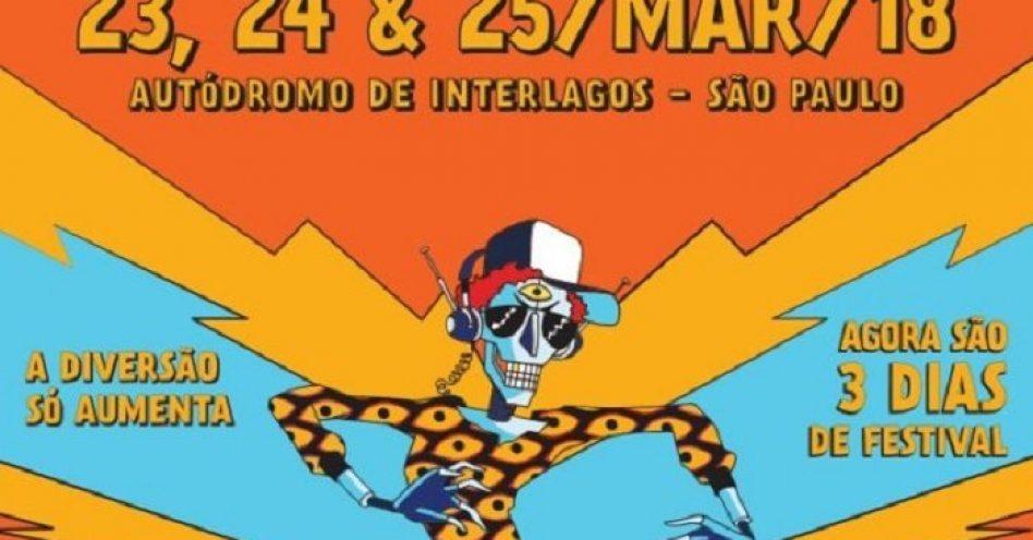 Em março, Lollapalooza Brasil 2018 terá três dias