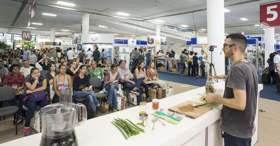 Naturaltech têm aulas de culinária, palestras e uma variedade de lançamentos vegetarianos