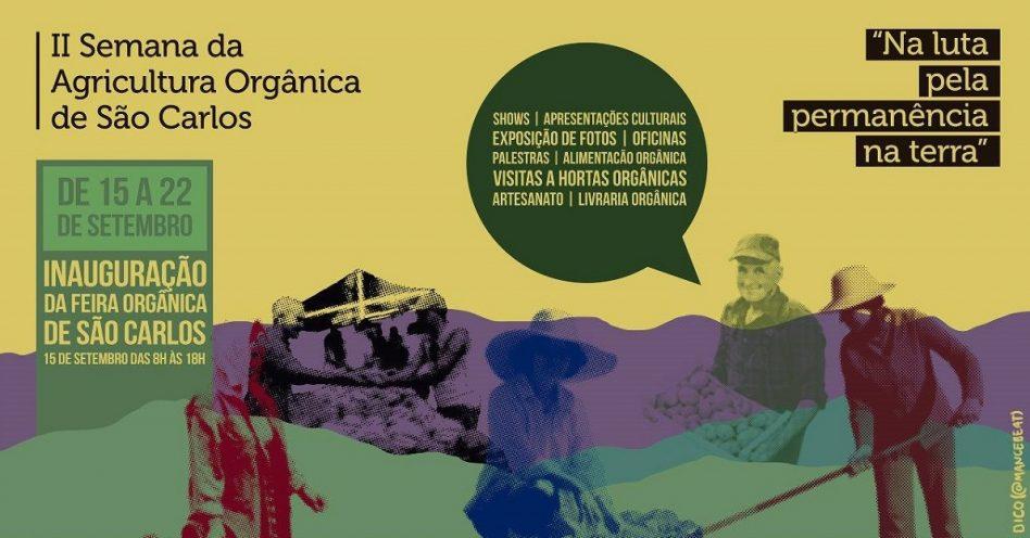 São Carlos promove 2ª Semana da Agricultura Orgânica
