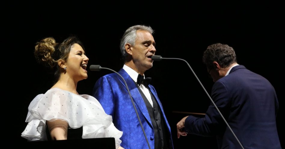 Artistas consagrados participaram dos concertos de Andrea Bocelli em SP