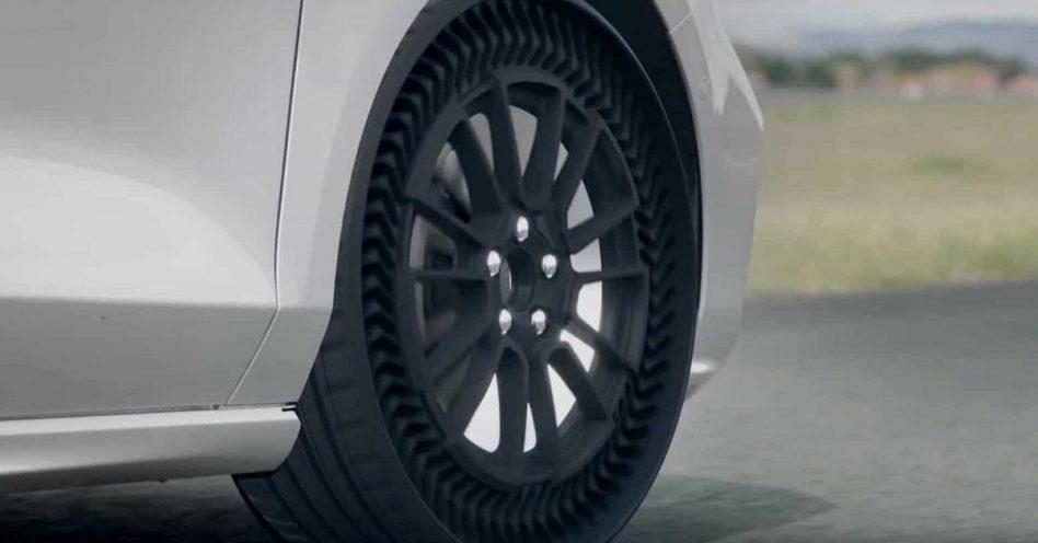 Pneu inovador sem ar é a proposta da Michelin
